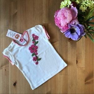 Lipstik NWT Girls' Embroidered Top